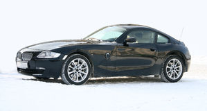 The black sports car. Royalty Free Stock Images