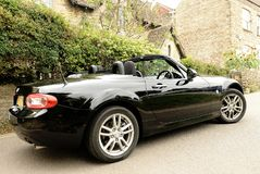 Black sports car stock images