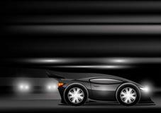 Black sports car. Stock Photos