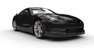 Black Sports Car Closeup Stock Photography