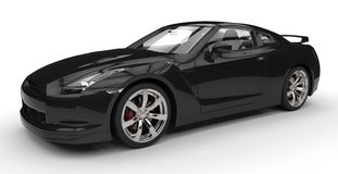 Black Sports Car - Front View Royalty Free Stock Photo