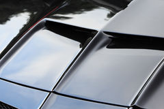 Black sports car hood Royalty Free Stock Photos