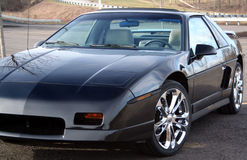 Black Sports Car Right Front Side Stock Images