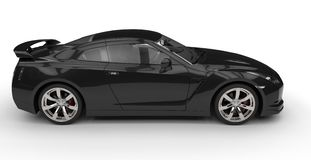 Black Sports Car - Side View Royalty Free Stock Photo
