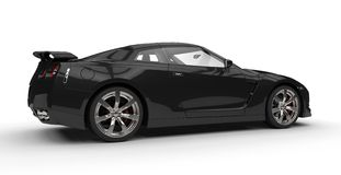 Black Sports Car Side View. Isolated on white background Stock Photography