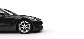 Black Sports Car - Side View Stock Photos