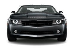 Black sports coupe car Royalty Free Stock Images