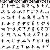 Sports icons set. Stock Images