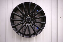 Black sports rims Royalty Free Stock Images