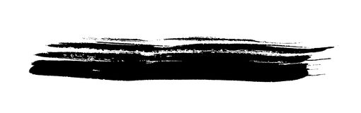 Black spot. Grunge, drawn with a brush on a white Royalty Free Stock Images