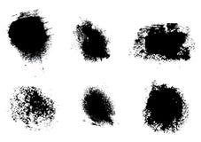 Black spots of paint Stock Photo