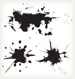 Black spots, watercolor abstract background Stock Photo