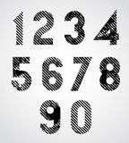 Black spotted numbers. Stock Photography