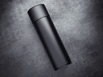Black spray can. 3d rendering Stock Photography