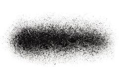 Black sprayed stripe. Isolated on the white background - raster illustration Stock Photos