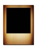 Black square. Over brown frame. blank illustration Royalty Free Stock Image