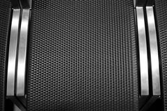 Black square block texture with metal Royalty Free Stock Image
