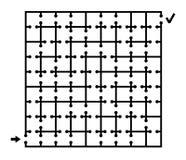 Black square maze Stock Photos