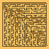 Black square maze (24x24) with help Royalty Free Stock Photos