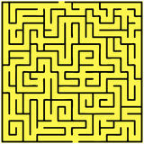 Black square maze (20x20) Stock Photo