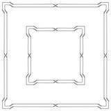 Black square ornate borders. Interlaced lines Stock Photos