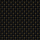 Black Square Pyramids and Gold Sars - Square Background Royalty Free Stock Photography