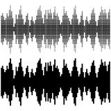 Black square sound wave patterns Royalty Free Stock Photography