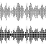 Black square sound wave patterns Royalty Free Stock Image