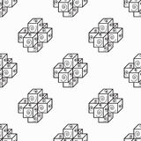 Black squares on a white background seamless pattern Royalty Free Stock Images
