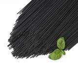Black squid ink spaghetti Stock Images