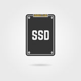 Black ssd with shadow Stock Image