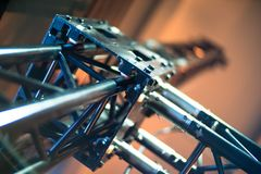 Free Black Stage Trusses With Electric Winches. Stock Photos - 116978153