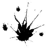 Black stains. A collections of black stains caused by falling liquid Stock Images