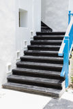 Black stair in greek style Royalty Free Stock Photo
