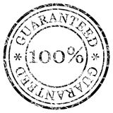 Black stamp guaranteed Stock Image