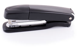 Black stapler. On white background Royalty Free Stock Photo