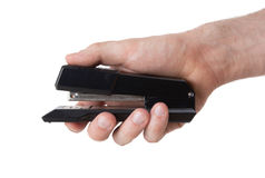Black Stapler Close Up Shot Stock Photography