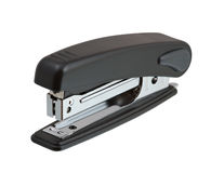 Black stapler isolated on white Stock Images
