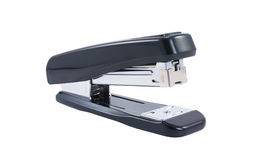 Black stapler on a white background Stock Images