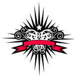 Black star. (illustration,  design,   tattoo Stock Photo