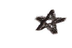 Black Star Royalty Free Stock Photography