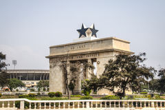 Black star arch in Accra, Ghana Royalty Free Stock Image