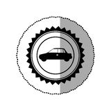 black star emblem side car icon Royalty Free Stock Photos