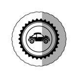 Black star emblem sport car side icon. Illustration design Stock Photo