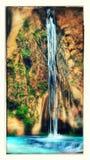 Black Star Falls in Silverado California. Image shows Black Star Falls located in a remote part of the Santa Ana Mountains in Orange County California. Black royalty free stock photos
