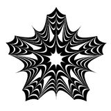 Black star pattern. Vector illustration on white background Royalty Free Illustration