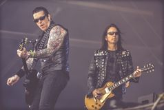Black Star Riders,  Ricky Warwick and Damon Johnson  live in concert Hellfest 2017 Stock Photo