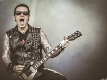 Black Star Riders, Ricky Warwick live in concert 2017 Royalty Free Stock Photo