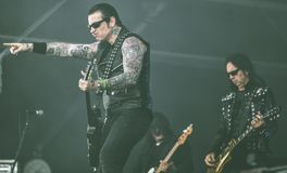 Black Star Riders,  Ricky Warwick live in concert Hellfest 2017 Stock Photography
