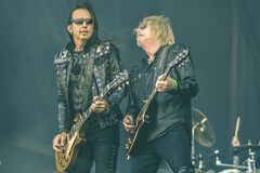 Black Star Riders, Scott Gorham and Damon Johnson live in concert 2017 Stock Images
